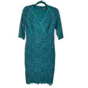 Thalia Sodi Lace Sheath Dress Green Sz S
